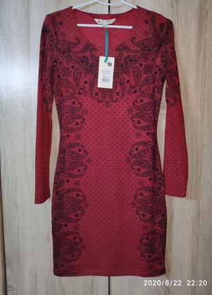 Красивое платье бордового цвета с черным принтом, yumi2 фото