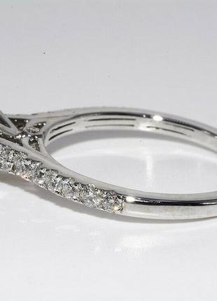 Золотое кольцо 585  белое золото бриллианты 1ct размер 17 сертификат3 фото