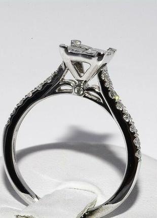 Золотое кольцо 585  белое золото бриллианты 1ct размер 17 сертификат6 фото