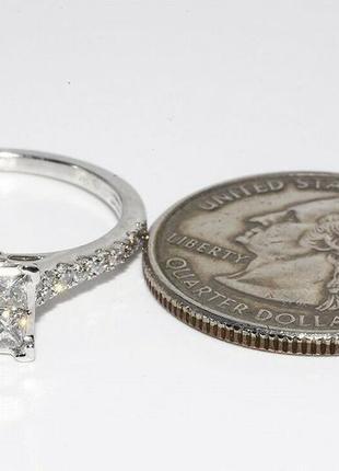 Золотое кольцо 585  белое золото бриллианты 1ct размер 17 сертификат8 фото