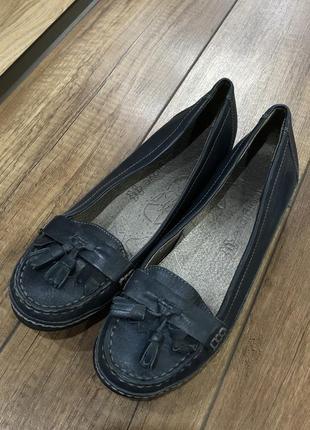 Кожаные балетки туфли footglove