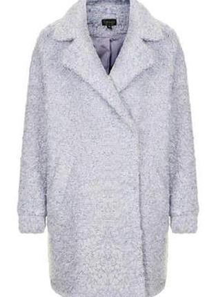 Topshop ворсистое пальто-бойфренд свободного кроя, оверсайз, р.10-383 фото