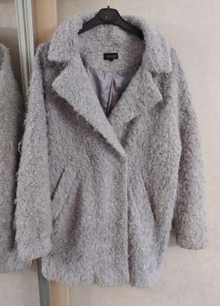 Topshop ворсистое пальто-бойфренд свободного кроя, оверсайз, р.10-385 фото