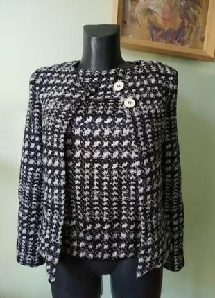 Стильная брендовая двойка(майка и пиджак) marc cain шерсть с шёлком1 фото