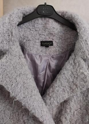Topshop ворсистое пальто-бойфренд свободного кроя, оверсайз, р.10-386 фото