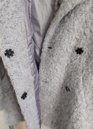 Topshop ворсистое пальто-бойфренд свободного кроя, оверсайз, р.10-388 фото