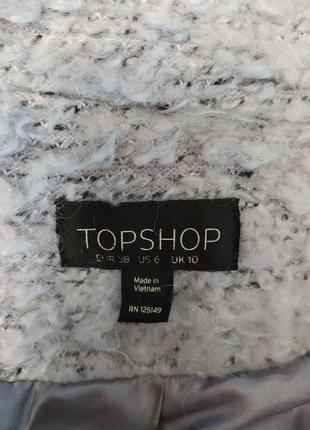 Topshop ворсистое пальто-бойфренд свободного кроя, оверсайз, р.10-3810 фото