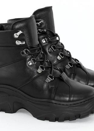 Ботинки зимние женские кожаные milana step4 фото