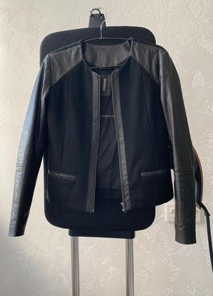 Premium куртка, пальто с натуральной кожи и шерсти!1 фото
