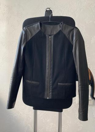 Premium куртка, пальто с натуральной кожи и шерсти!2 фото