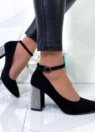 Шикарные туфли замшевые новинка3 фото
