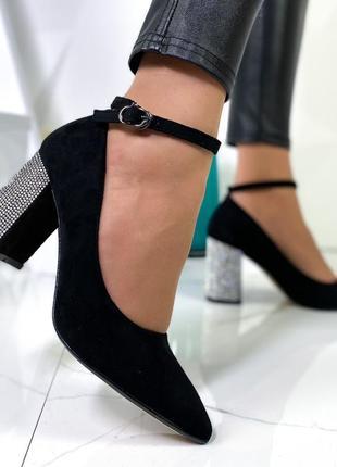 Шикарные туфли замшевые новинка5 фото