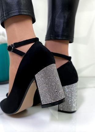 Шикарные туфли замшевые новинка6 фото