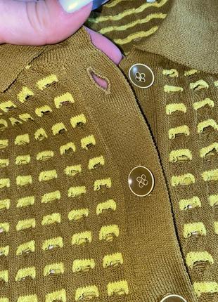 Трендовая футболочка/поло zara knit оригинал яркого цвета2 фото