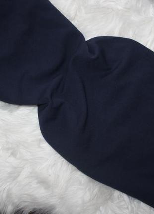 Синее миди платье с воланом снизу8 фото