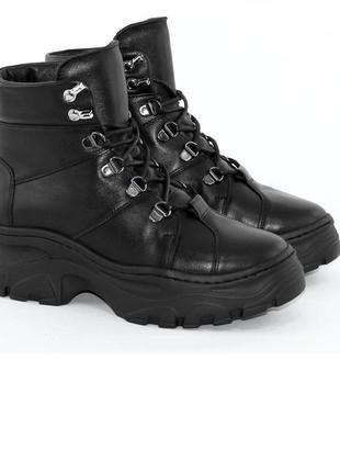Ботинки зимние женские кожаные milana step8 фото
