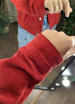 Красный вельветовый пиджак врубчик от topshop2 фото