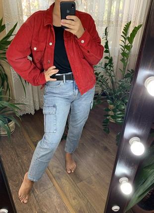 Красный вельветовый пиджак врубчик от topshop1 фото