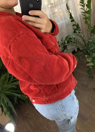 Красный вельветовый пиджак врубчик от topshop4 фото
