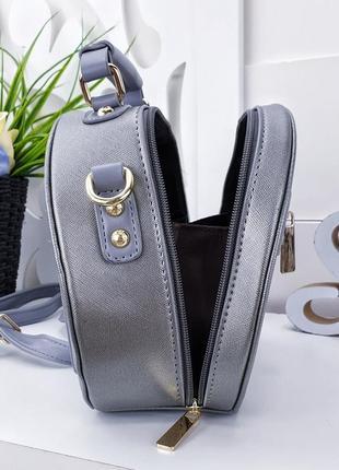 Стильная серебристая сумочка 19х22х95 фото