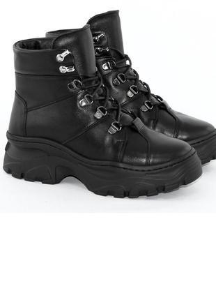 Ботинки зимние женские кожаные milana step1 фото