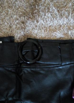 Кожаная мини юбка2 фото
