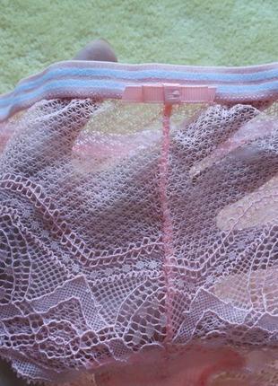 Новые розовые кружевные трусики танго с-м/s-m/8-10/36-38/44-463 фото
