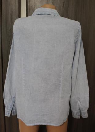Легкая хлопковая рубашка с вышивкой в идеальном состоянии l4 фото