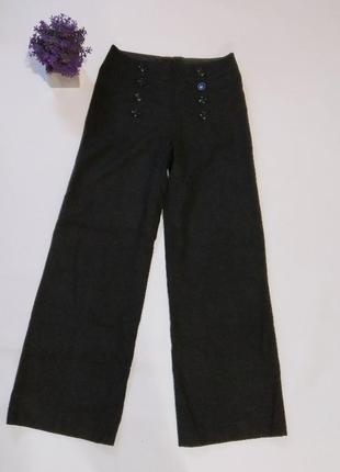 Широкие брюки палаццо h&m, британия, шерсть1 фото