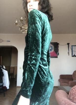 Бархатное платье midi2 фото