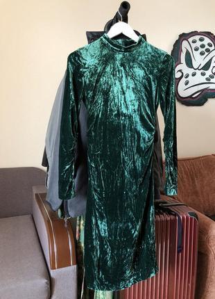 Бархатное платье midi5 фото