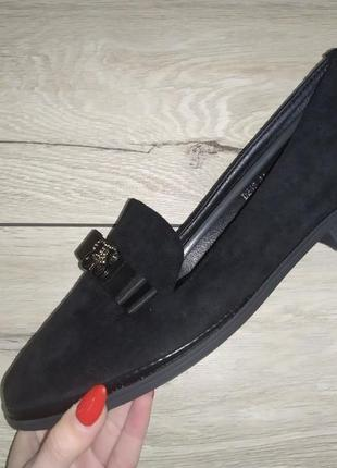Мягкие балетки  женские батал туфли лоферы1 фото