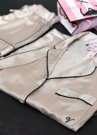 Сатиновая пижама виктория сикрет оригинал1 фото