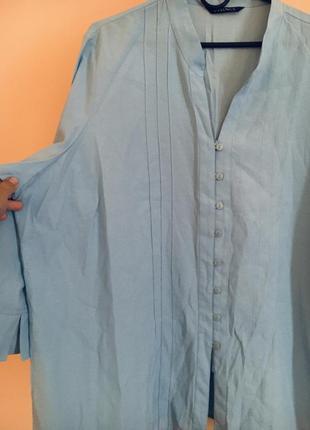 Батал большой размер голубая рубашка блуза блузка блузочка рубашка офис дресс код4 фото