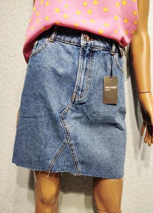 Стильная джинсовая юбка1 фото