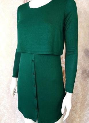 Платье женское из вискозы приталенного силуэта изумрудный цвет размер 40-441 фото