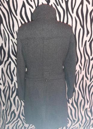 Шерстяное двубортное пальто2 фото