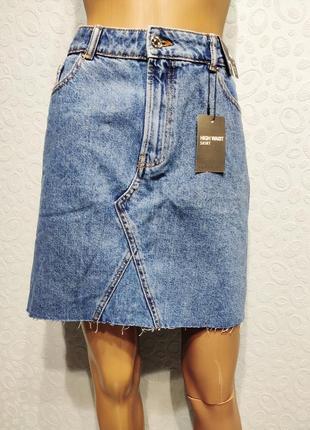 Стильная джинсовая юбка3 фото