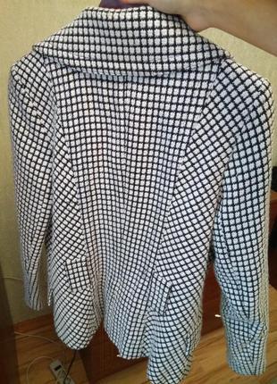 Новое стильное брендовое двубортное пальто жакет гусиная лапка, размер 12-146 фото