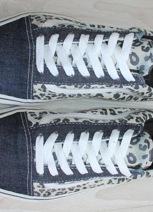 Оригинальные женские кроссовки кеды vans old skool деним + замша4 фото