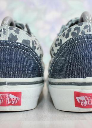Оригинальные женские кроссовки кеды vans old skool деним + замша3 фото
