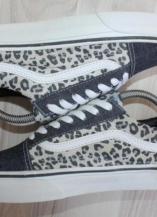 Оригинальные женские кроссовки кеды vans old skool деним + замша7 фото