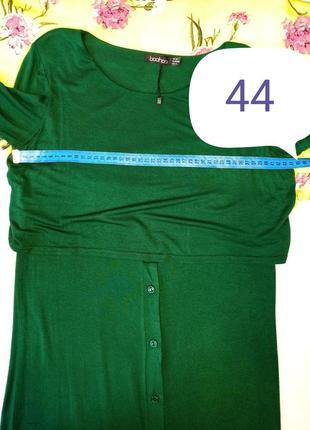 Платье женское из вискозы приталенного силуэта изумрудный цвет размер 40-445 фото