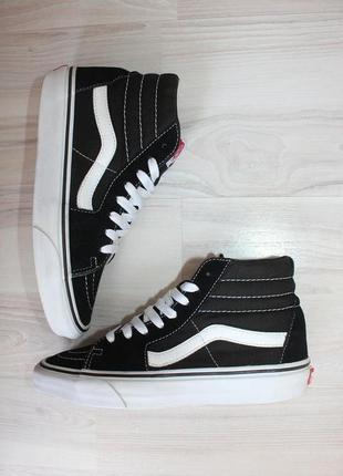Оригинальные женские кроссовки кеды vans sk8 hi замша