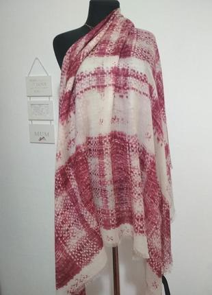 Роскошный фирменный большой шерстяной платок 100% шерсть супер качество!!!3 фото