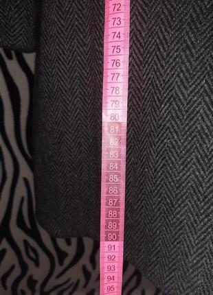 Шерстяное двубортное пальто6 фото