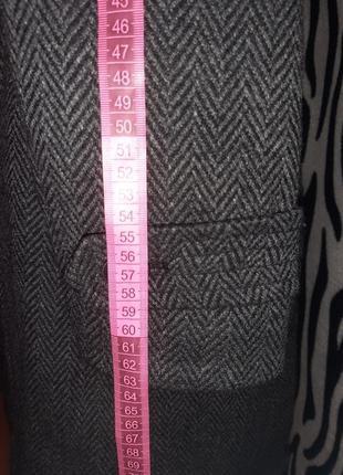 Шерстяное двубортное пальто7 фото