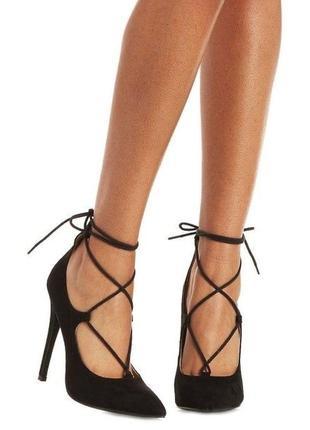 Луфли лодочки на шнуровке