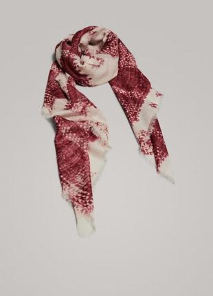 Роскошный фирменный большой шерстяной платок 100% шерсть супер качество!!!8 фото