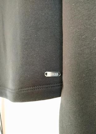 Черная укороченная худи кофта толстовка guess3 фото